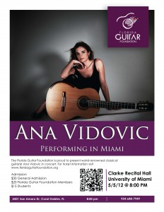Ana Vidovic Flyer
