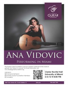 Ana Vidovic Flyer